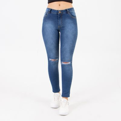 Calca-Jeans-Cintura-Intermediaria-Lavagem-Media-Lady-Rock-Frente