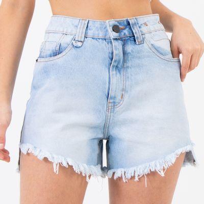 Short-Cintura-Alta-com-Detalhes-na-Costura-Lavagem-Media-Lady-Rock-Frente