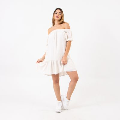 Vestido-Curto-com-Mangas-Bufantes-Ombro-a-Ombro-Off-White-Lady-Rock-Frente