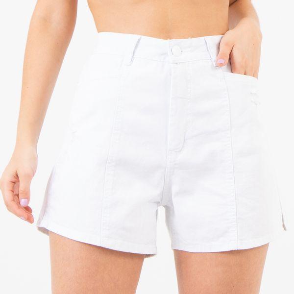 Short-Cintura-Alta-com-Recortes-Branco-Lady-Rock-Frente