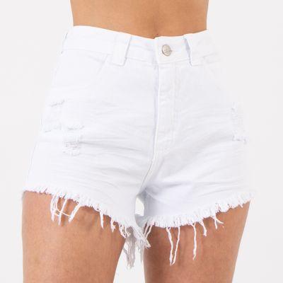 Short-Hot-Pants-Branco-Amassado-Destroyed-Frente