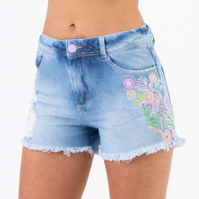 Short-Comfort-com-Bordado-Lateral-Lavagem-Media-Lady-Rock-Lado