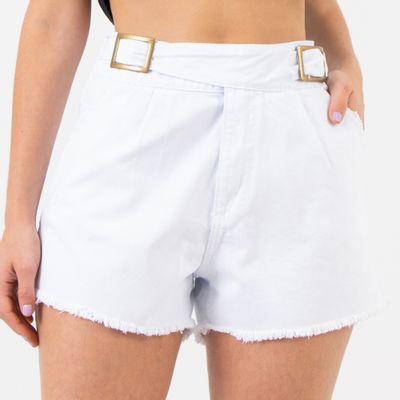 Short-Cintura-Alta-com-Faixas-Transpassadas-Branco-Lady-Rock-Frente