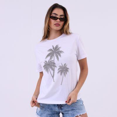 T-Shirt-Ampla-Coqueiros-com-Brilhos-Lady-Rock-Frente