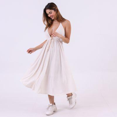 Vestido-Midi-com-Amarracao-Off-White-Lady-Rock-Frente