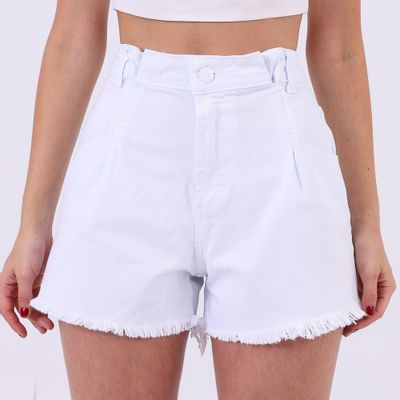 Short-Hot-Pants-com-Pregas-Frontais-Branco-Lady-Rock-Frente