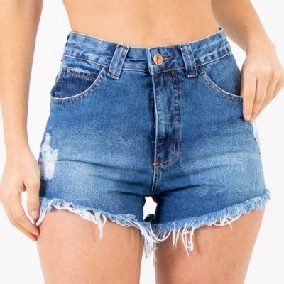 Short-Hot-Pants-Lavagem-Escura-Lady-Rock-Frente
