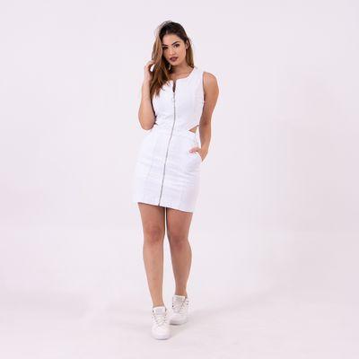 Vestido--Mini-com-Abertura-nas-Costas-Branco-Lady-Rock-Frente-