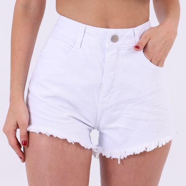 Short-Hot-Pants-Branco-Lady-Rock-Frente