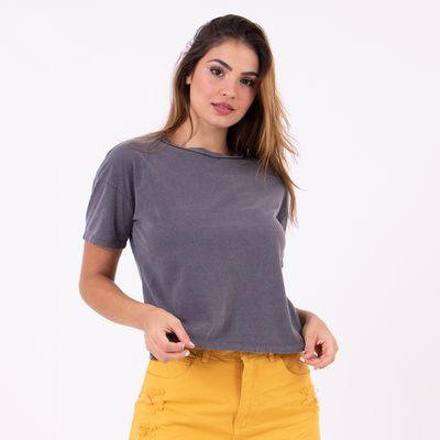 T-Shirt-Ampla-Asas-Preto-Estonado-Lady-Rock-Frente