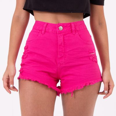 Short-Hot-Pants-Rosa-Destoyed-Lady-Rock-Frente