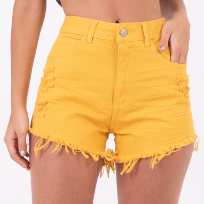 Short-Hot-Pants-Amarelo-Destoyed-Lady-Rock-Frente