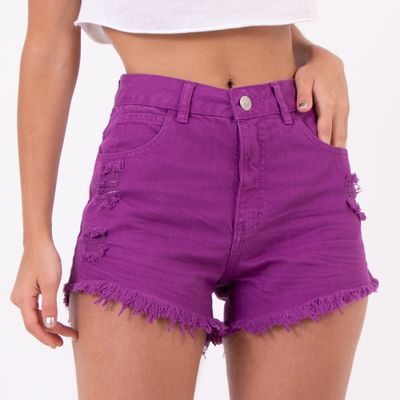 Short-Hot-Pants-Purpura-Destoyed-Lady-Rock-Frente