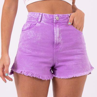 Short-Hot-Pants-Lilas-Marmorizado-Lady-Rock-Frente