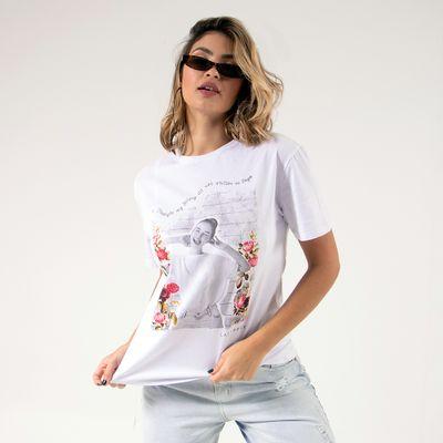T-Shirt--Cool-Girl-Branca-Lady-Rock-Frente