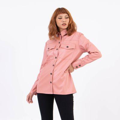 Camisa-Ampla-Rosa-Lady-Rock-Frente