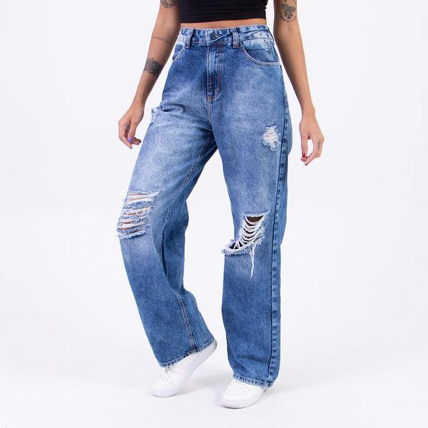 Calca-Pantalona-Reta-Destroyed-Lady-Rock-Frente