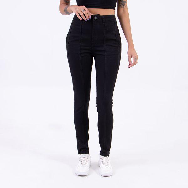Calca-Hot-Pants-Black-com-Recortes-ON-STAGE-Lady-Rock-Frente