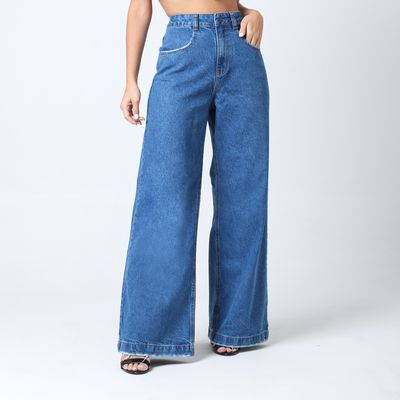 Calca-Pantalona-Ampla-Estonada-Lady-Rock-Frente