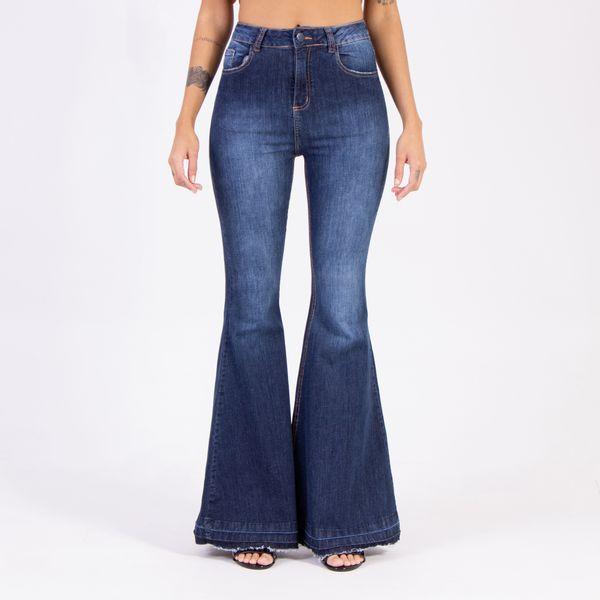 Calca-Hot-Pants-Mega-Flare-Lady-Rock-Frente