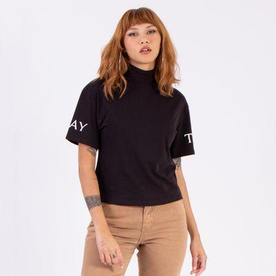 T-Shirt-Stay-True-Preta-Lady-Rock-Frente