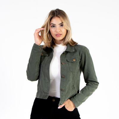 Jaqueta-Media-Verde-Militar-Lady-Rock-frente