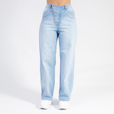 Calca-Pantalona-Jeans-Lavagem-Clara-Lady-Rock-Frente