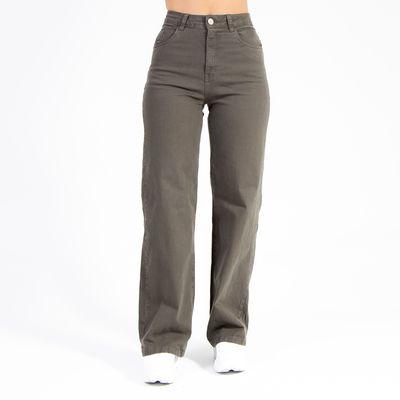 Calca-Pantalona-Verde-Militar-Lady-Rock-Frente