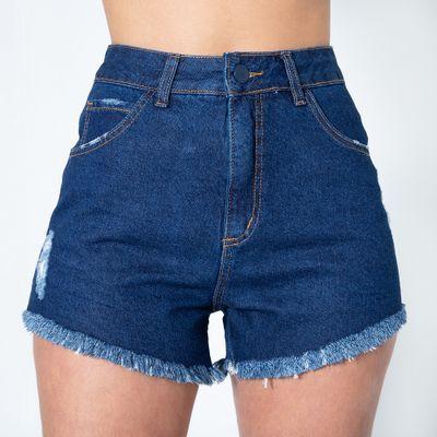 Short-Hot-Pants-Lavagem-Escura-Stone-Lady-Rock-Frente