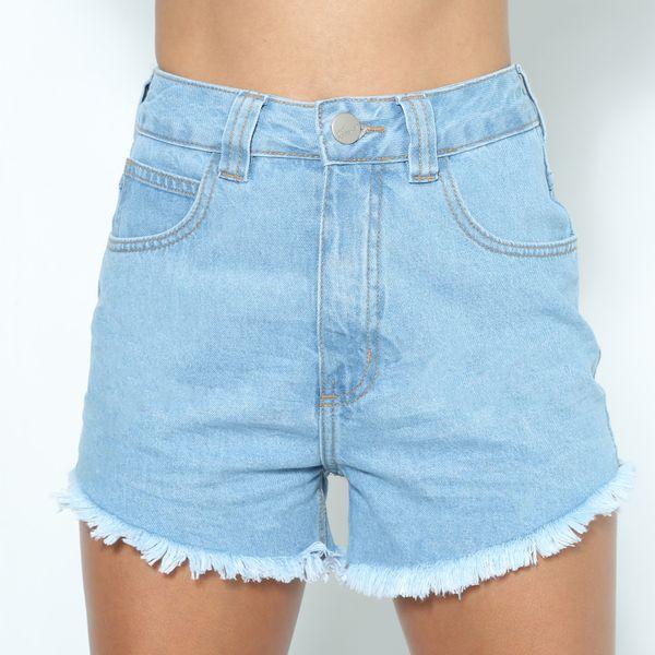 Short-Jeans-Cintura-Alta-Lavagem-Clara-Lady-Rock-SH11386-frente