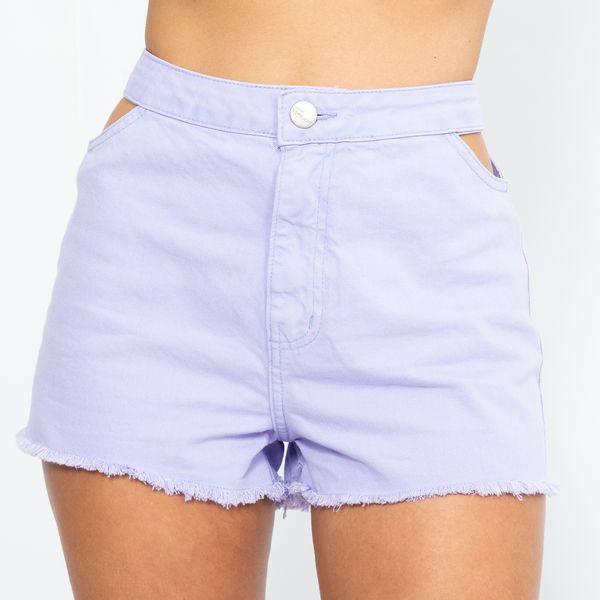Short-Jeans-Cintura-Alta-Lilas-Lady-Rock-Frente