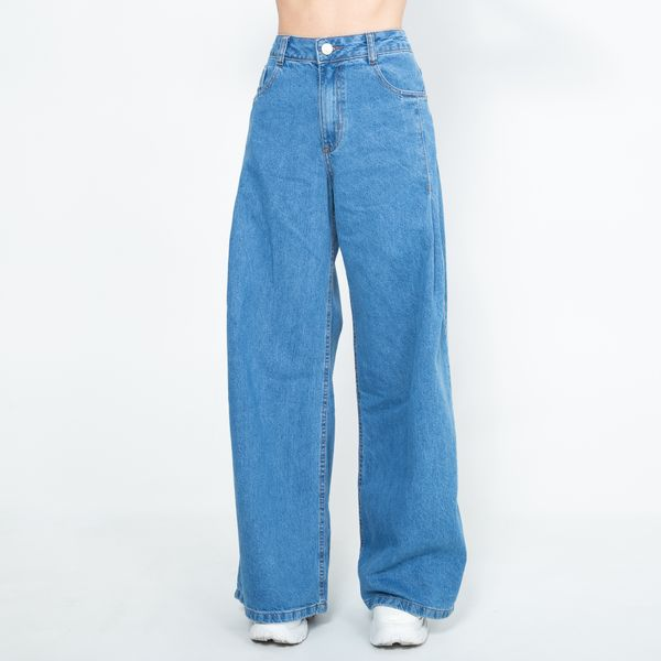 Calca-Jeans-Wide-Leg-com-Pences-On-Stage-Lady-Rock-CL09023-frente