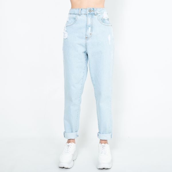 Calca-Jeans-MOM-Lavagem-Clara-On-Stage-Lady-Rock-CL14043-frente