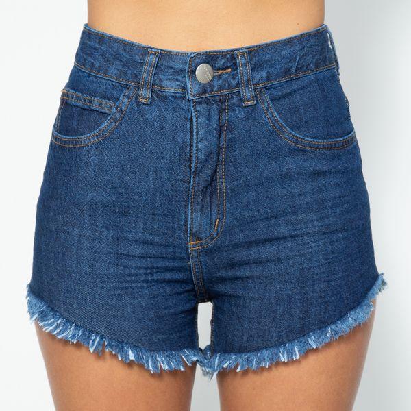 Short-Hot-Pants-Lavagem-Escura-Lady-Rock-SH11397-frente