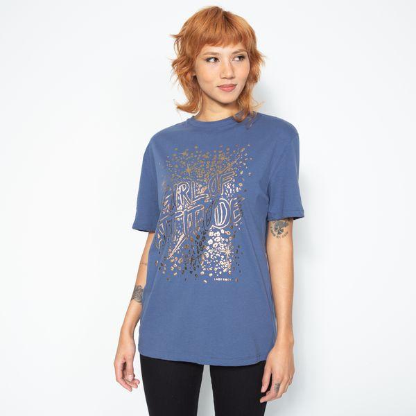 T-Shirt-Ampla-Attitude-Azul-Lady-Rock-TS35092-frente