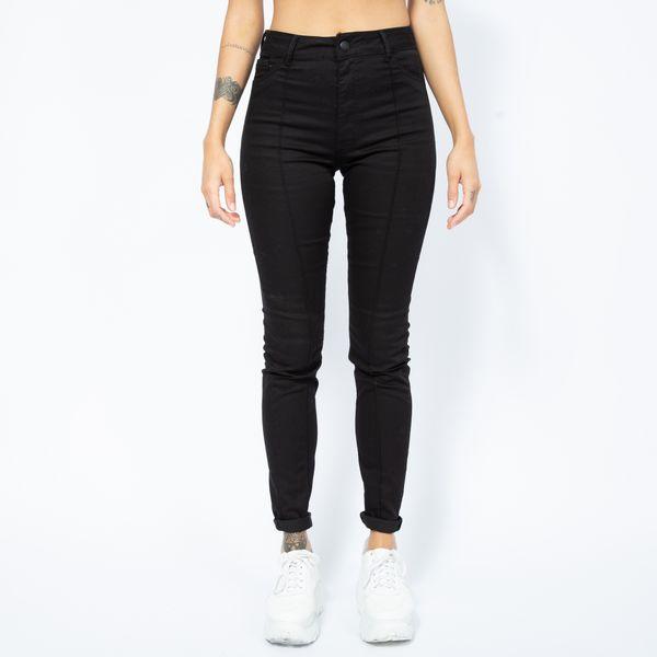 Calca-Hot-Pants-Black-com-Frizo-Lady-Rock-Frente